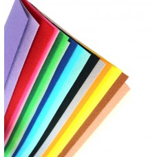 Жесткий корейский фетр 1,2 мм. набор 20 цветов. 15*20 см