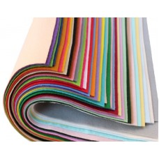 Мягкий корейский фетр 1мм, набор 36 цветов. 15*20 см
