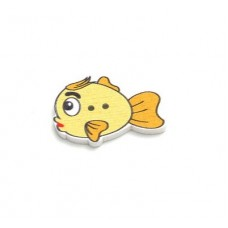 Пуговица Рыбка, 1 шт.