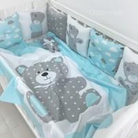 Ткань для детского постельного белья в кровать для новорожденных