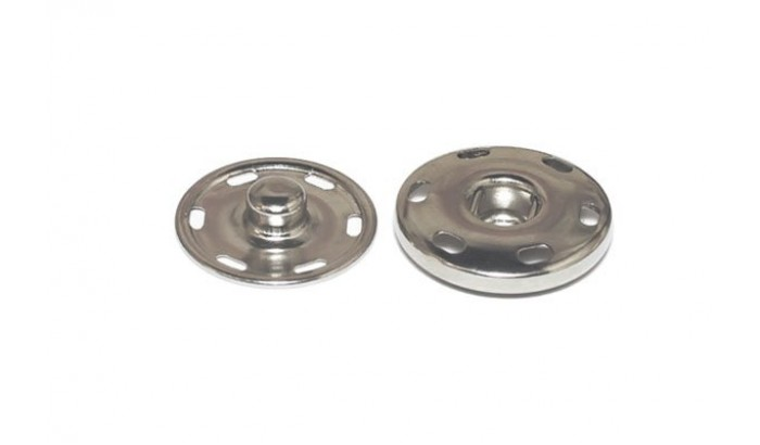 Кнопки пришивные, 16 мм. Набор 6 шт. серебро