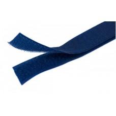 Липучка (велкро) синяя 25 мм, 1 метр