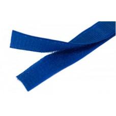 Липучка (велкро) темно-голубая 25 мм, 1 метр