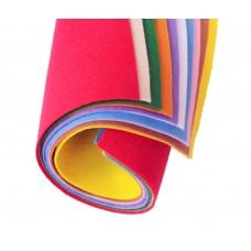Мягкий корейский фетр 1мм, набор 10 цветов. 15*20 см