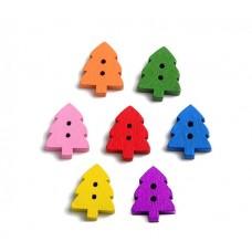 """Набор разноцветных пуговиц """"Елочки"""",10шт"""