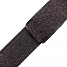 Липучка (велкро) коричневая 25 мм, 1 метр