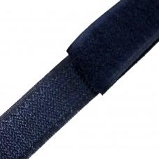 Липучка (велкро) темно-синяя 20 мм, 1 метр