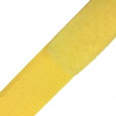 Липучка (велкро) желтая 25 мм , 1 метр