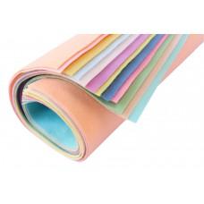 Мягкий корейский фетр 1 мм, набор 12 пастельных цветов.