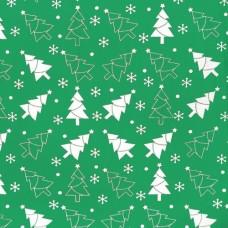 """Ткань натуральный хлопок """"Зеленые елки"""""""