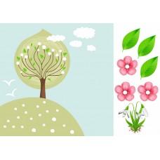 """Печать рисунка """"Страничка Весна"""""""