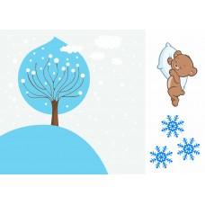 """Печать рисунка """"Страничка Зима"""""""