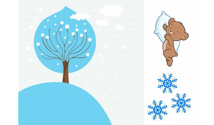Печать рисунка Зима