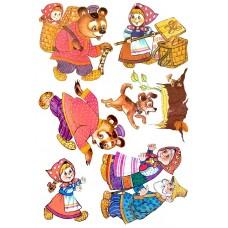 """Сказки из фетра """"Маша и медведь"""", фетр с рисунком"""