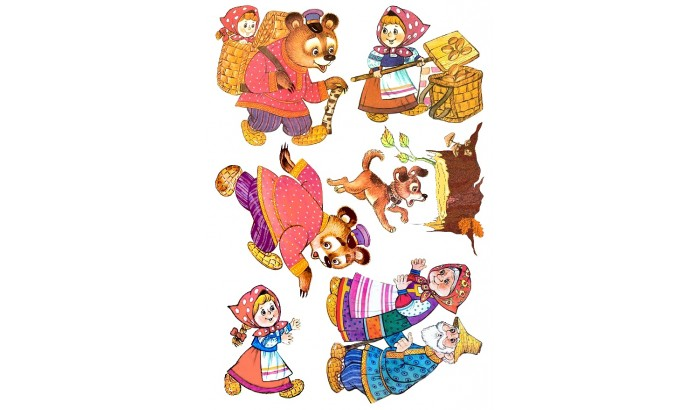 Сказки из фетра Маша и медведь