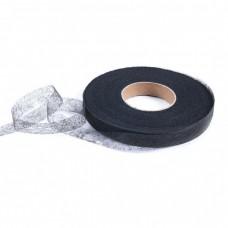 Паутинка черная, лента 30 мм, рулон