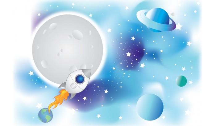 """Фетр с рисунком """"Космос 001"""""""