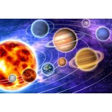 """Фетр с рисунком """"Космос 002 """""""