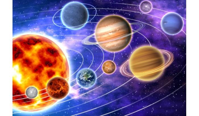 """Фетр с рисунком """"Космос 002"""""""