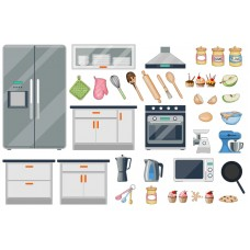 "Фетр с рисунком ""Кухня 001"""