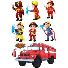 """Фетр с рисунком """"Пожарные 001"""""""