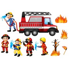 """Фетр с рисунком """"Пожарные 002"""""""