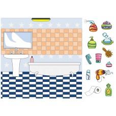 "Фетр с рисунком ""Ванная комната 001"""