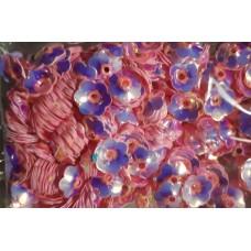 Пайетки цветок светло-розовый перламутр
