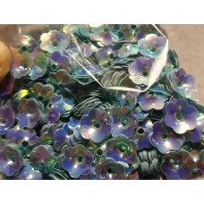 Пайетки цветок голубой