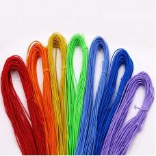 Эластичная резинка 1 мм, набор радуга