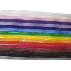 Шнур -резинка 1 мм, набор 16 цветов
