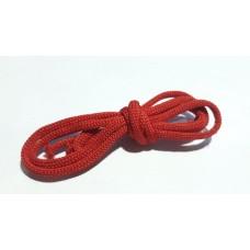 Шнур вязаный красный