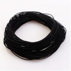 Эластичная резинка 1 мм, черная, 1 метр