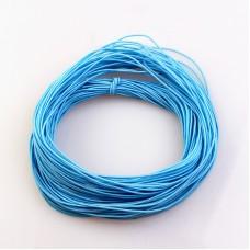 Эластичная резинка 1 мм, голубая, 1 метр