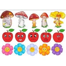 """Сублимационная печать """"Грибы, цветы, яблоки"""""""
