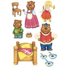 "Сказки из фетра ""Маша и медведи"", фетр с рисунком"