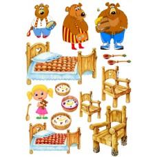 """Сказки из фетра """"Маша и три медведя"""", фетр с рисунком"""