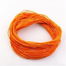 Эластичная резинка 1 мм, оранжевая, 1 метр