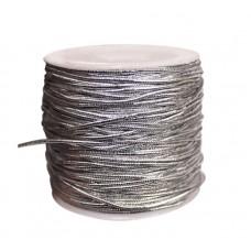 Эластичная резинка 1 мм, серебристая, 1 метр