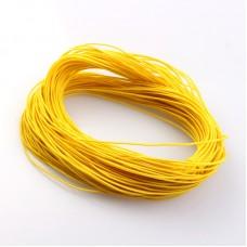 Эластичная резинка 1 мм, желтая, 1 метр
