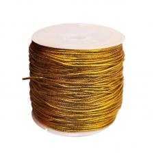 Эластичная резинка 1 мм, золотистая, 1 метр