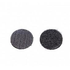 Застежка липучка с липким слоем 15мм, круглая, черная 1 шт.