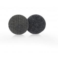Застежка липучка с липким слоем 20 мм, круглая, черная 1 шт.