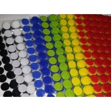 Липучка круглая цветная. 10 мм, 1 шт