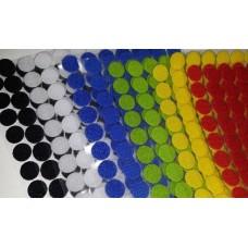 Липучка круглая цветная. 15 мм, 1 шт