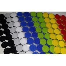 Липучка круглая цветная. 20 мм, 1 шт