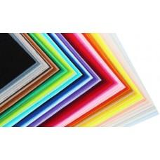 Жесткий корейский фетр 1,2 мм. набор 65 цветов. 15*20 см