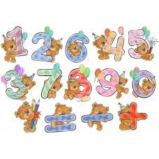 Цифры для малышей из фетра