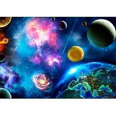 """Велкроткань с рисунком """"Планеты солнечной системы 2"""""""