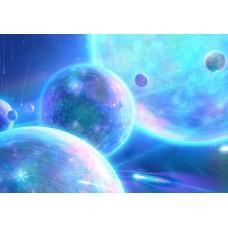 """Велкроткань с рисунком """"Планеты"""""""